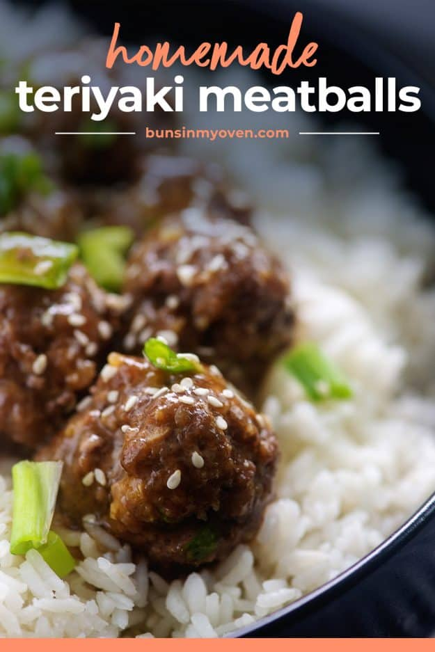 meatballs in bowl with rice.