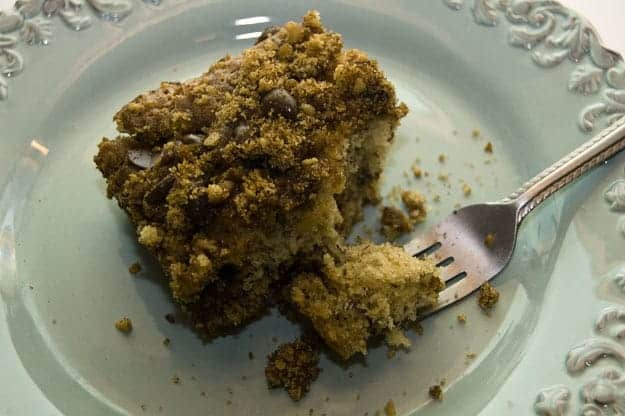 Banana Coffee Cake with Chocolate Chip Streusel. Oh My Word.  recipe