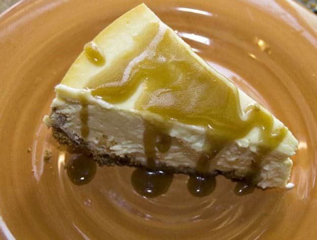 Cheesecake with Whiskey Butter Sauce. Yes, Really.  recipe