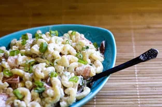 BLT Macaroni Salad. Again With The Bacon. recipe