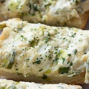 This garlic bread recipe will teach you how to make the best homemade garlic bread ever! It's creamy, cheesy, and full of flavor.