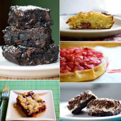 A photo collage of various desserts