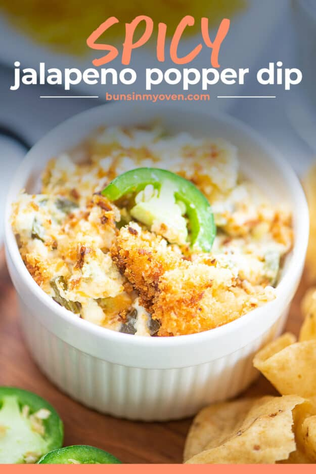 spicy jalapeno dip in white bowl.