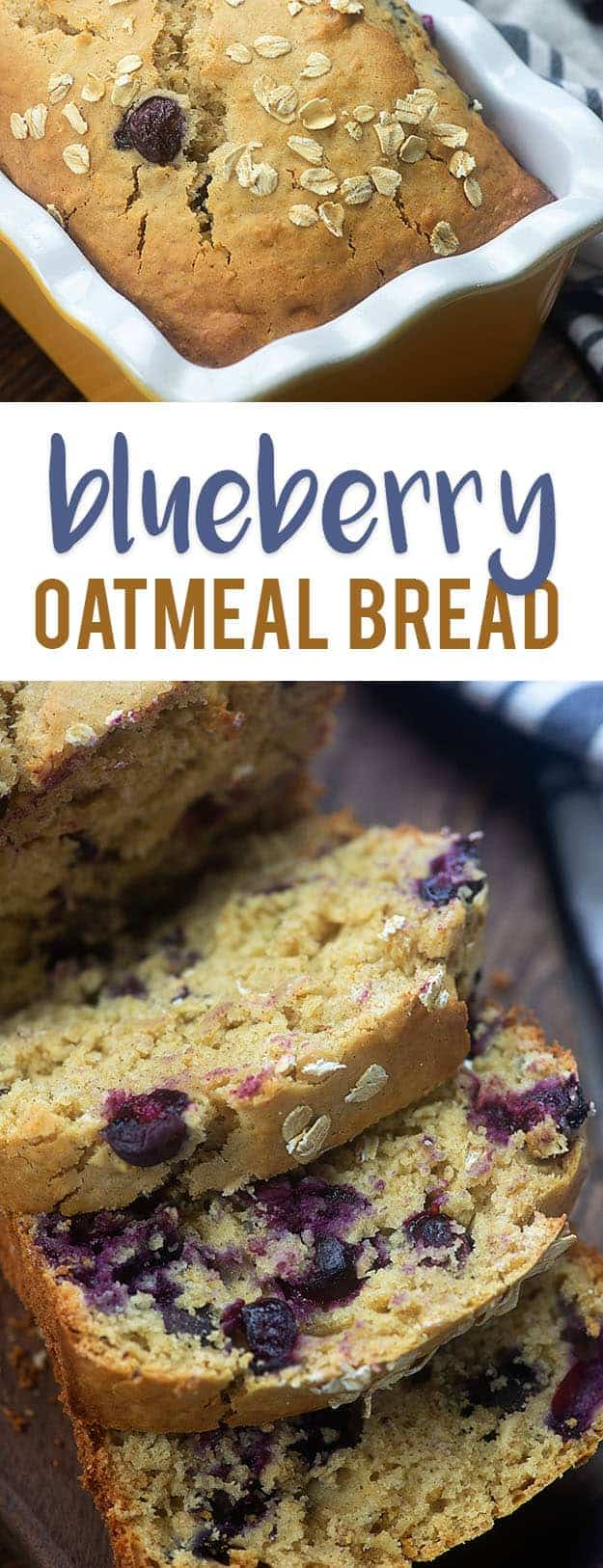 oatmeal bread with blueberries