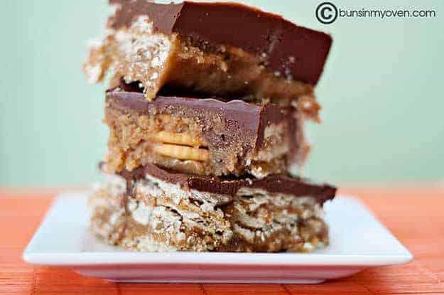 Chocolate Peanut Butter Candy Bars recipe