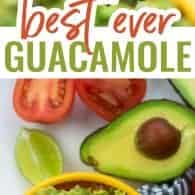 photo collage of guacamole