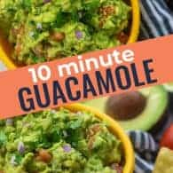 homemade guac photo collage