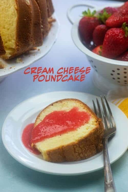 No fail cream cheese pound cake recipe! #cake #recipe #homemade