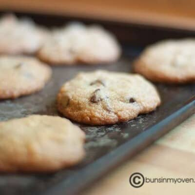 Cookies resting on a baking pan