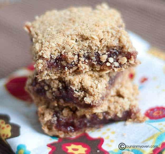 Raspberry Oatmeal Bars recipe