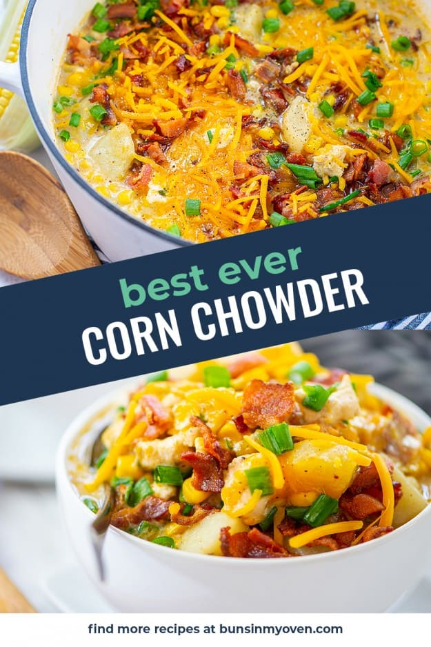collage of chicken chowder images.