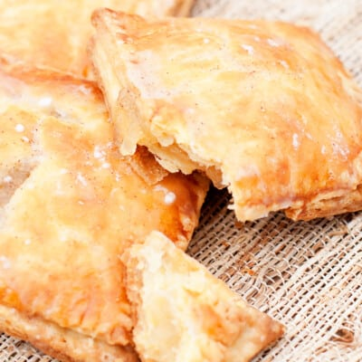 A close up of homemade apple poptarts