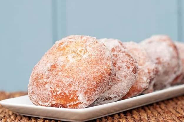 Nutella Filled Sugar Donuts recipe