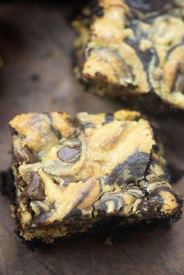 Best ever brookie recipe! Made with my famous brownie batter and the most perfect chocolate chip cookie dough! #brookies #cookies #brownies #dessertrecipe