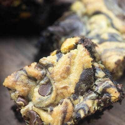 Best ever brookies! Made with my famous brownie batter and the most perfect chocolate chip cookie dough! #brookies #cookies #brownies #dessertrecipe