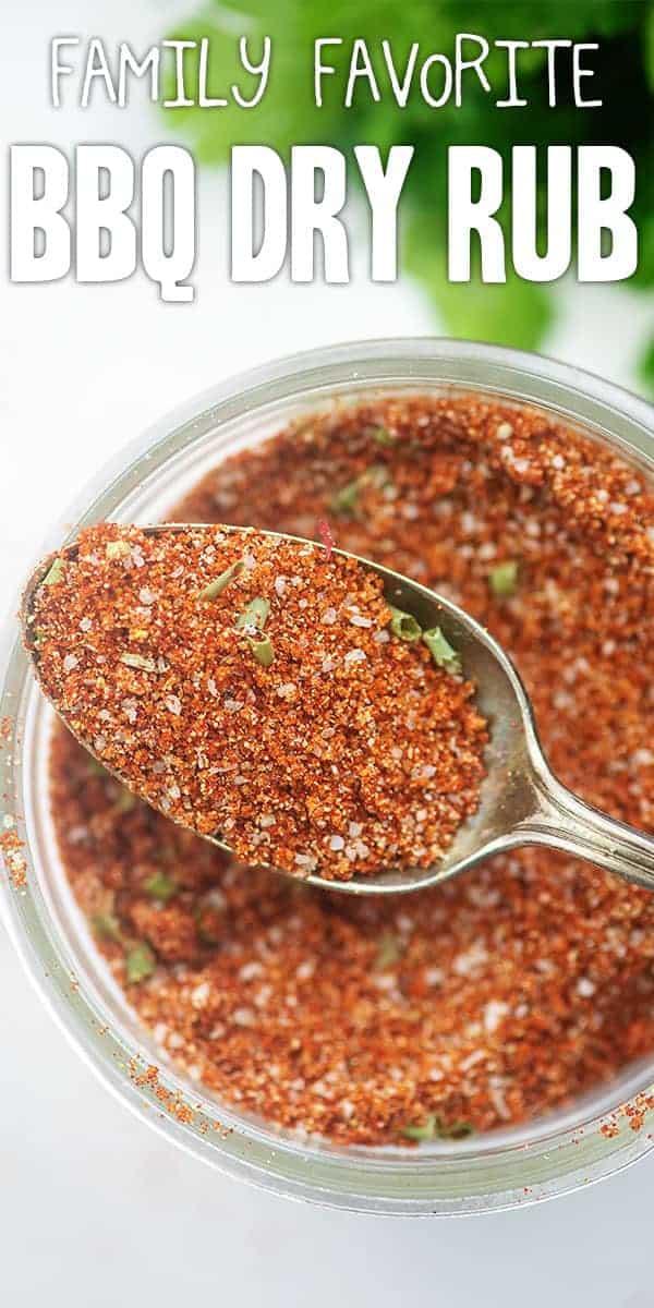 sweet dry rub recipe in mason jar