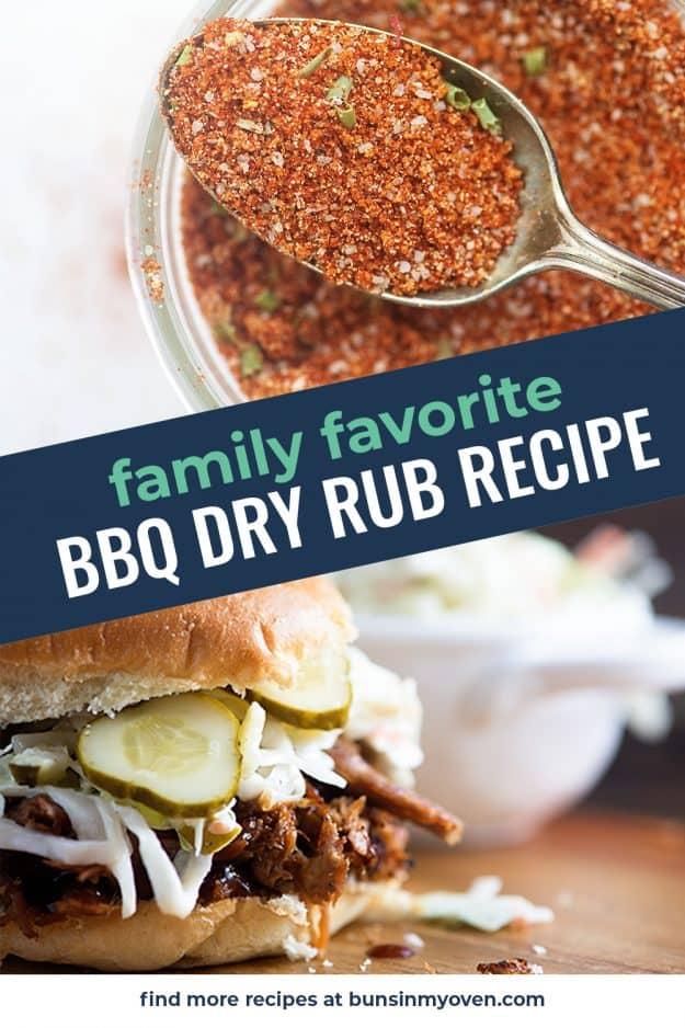 dry rub recipe photo collage