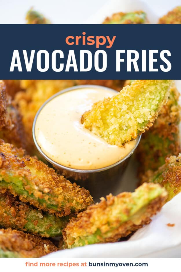 crispy avocado fries with ranch for dipping.