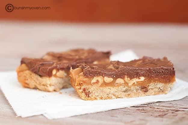 Caramel Peanut Butter Bars