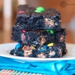 fudgy brownies with m&ms