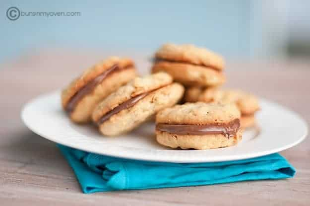 Peanut Butter & Nutella Sandwich Cookies