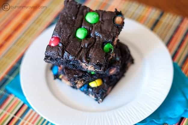 Peanut Butter M&M Brownies