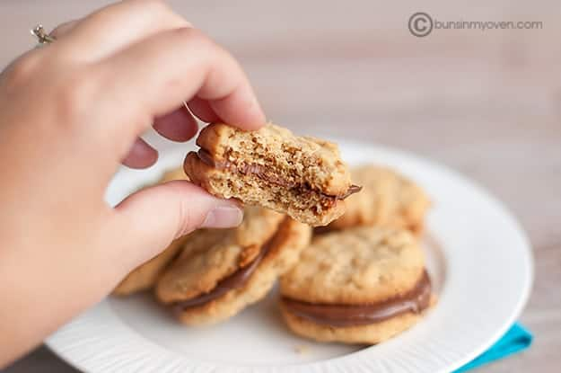 Peanut Butter & Nutella Sandwich Cookies recipe
