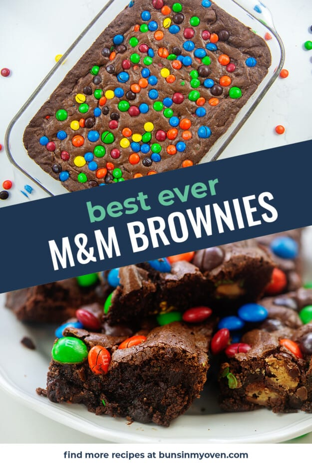 collage of brownie images with text for Pinterest.