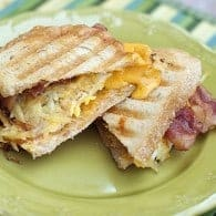 bacon and egg panini