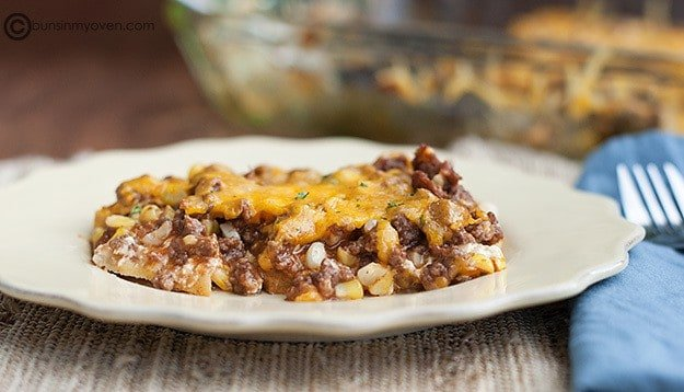barbecue beef casserole