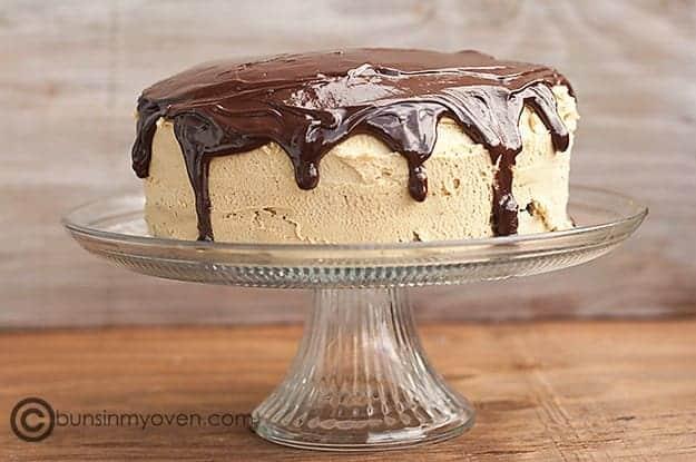 Chocolate Peanut Butter Buckeye Cake recipe