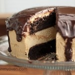 Chocolate Peanut Butter Buckeye Cake recipe