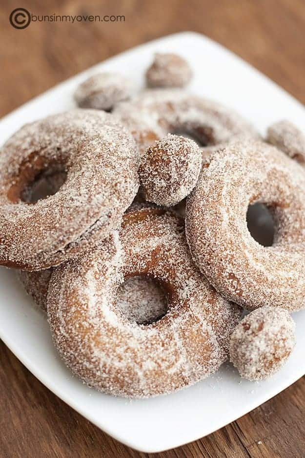 ... Apple Cider Donuts with you. I promised apple week, and apple week I
