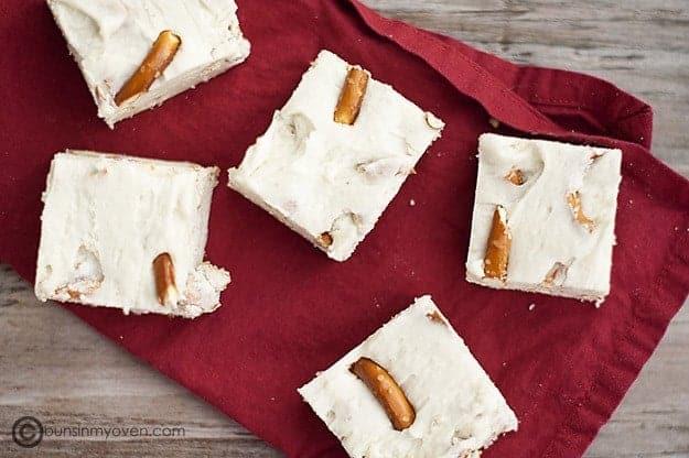 White Chocolate Pretzel Fudge recipe