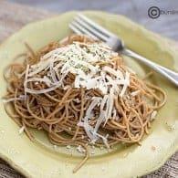 lemon garlic pasta with brown butter