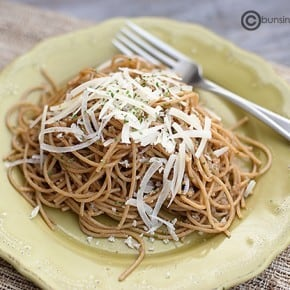 lemon garlic pasta with brown butter