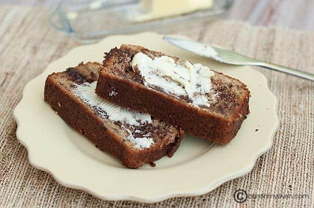 Nutella Swirled Banana Bread . Simple banana bread jazzed up with ...