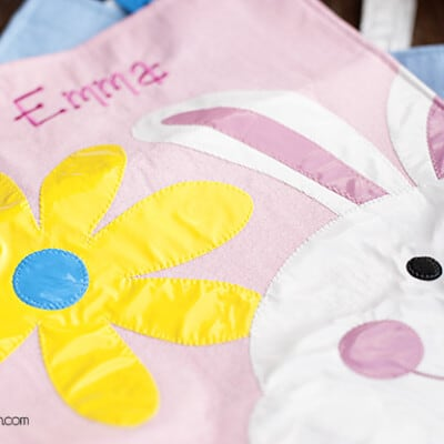 A close up of homemade crafted easter design