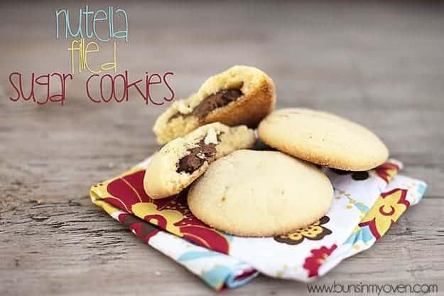 Nutella Filled Sugar Cookies recipe