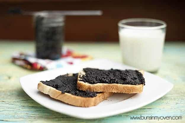 oreo spread on toast