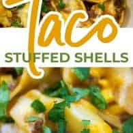 taco stuffed shells photo collage