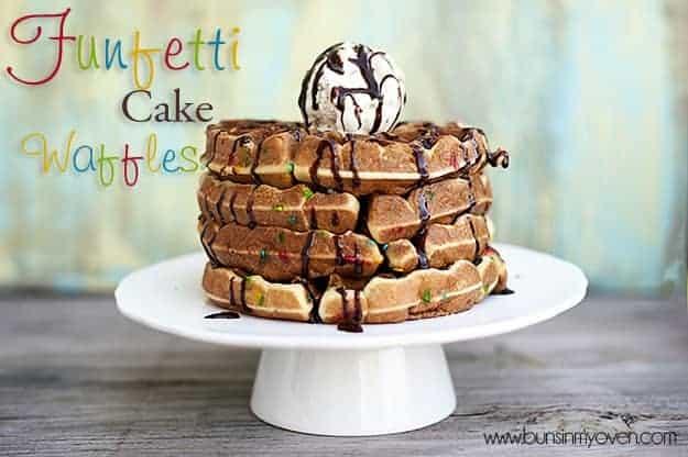 Funfetti Cake Waffles recipe