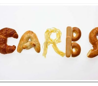 The carbs spelled out of food
