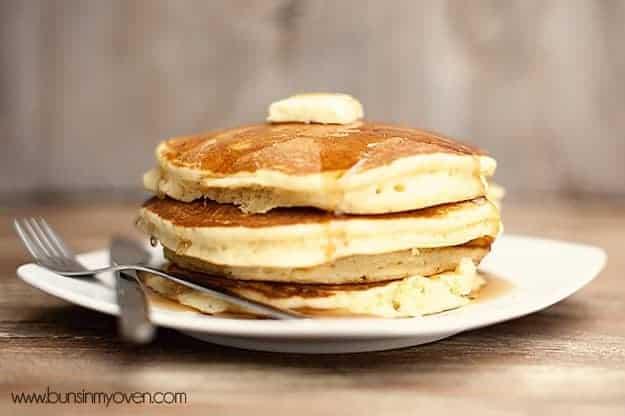 Easy homemade fluffy pancake recipe