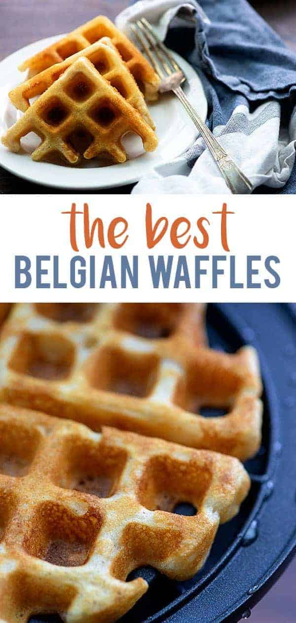 best belgian waffles on white plate