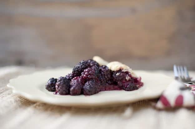 Blackberry Crostata on a plate
