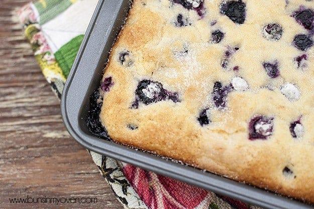 An overhead view of buttermilk blueberry