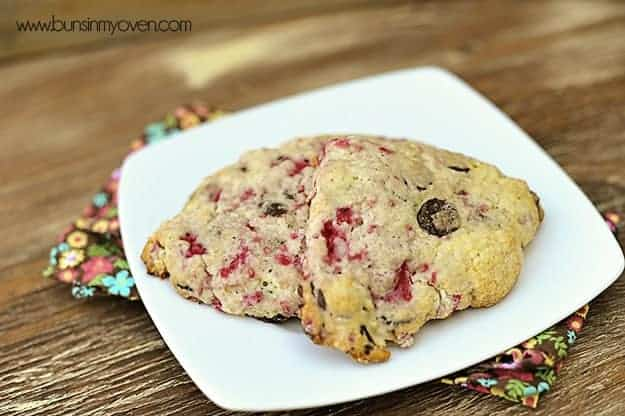 chocolate raspberry scones