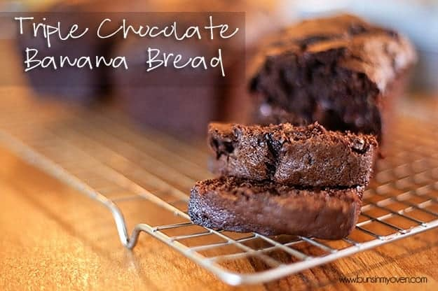 Triple Chocolate Banana Bread recipe