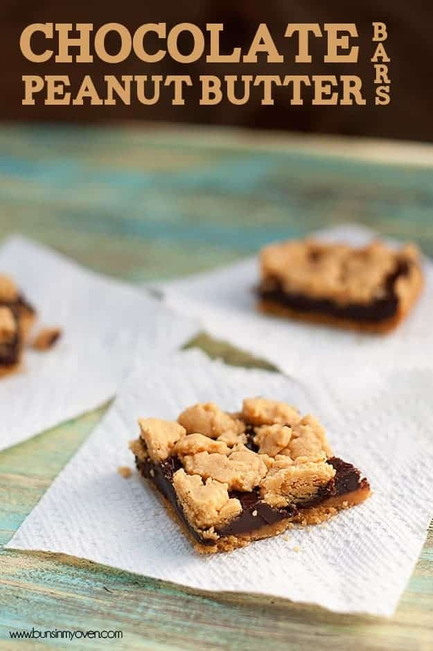 Chocolate Peanut Butter Bars — Buns In My Oven